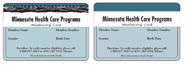 MHCP ID card before January 2003